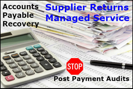Accounts Payable Recovery - Supplier Returns Managed Service